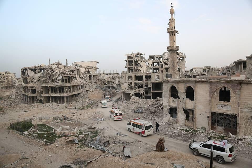 La Ghouta détruite suite aux déplacements forcés